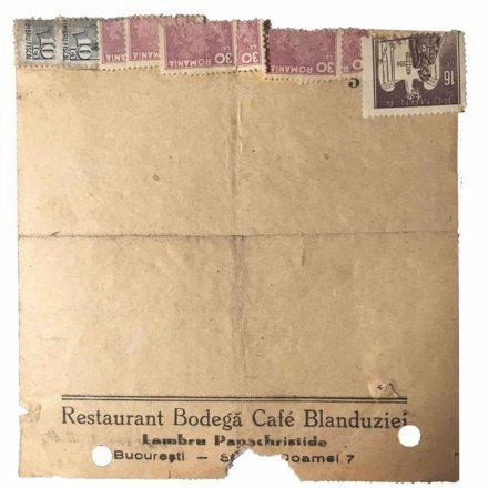 Nota de plată din Galeriile Blanduziei, cca. 1930, sursa: arhivă personală