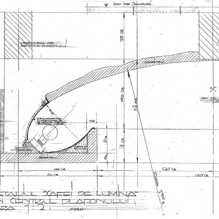 Detaliul scafei din centrul plafonului