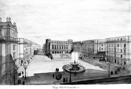 Mențiunea a II-a - arhitecții: R. STAMATIN-IOVĂNESCU, proiectul nr. 2, perspective. Imagini publicate în articolul sus-citat, cotație: cutia 23_NS_1245 și cutia 23_NS_1246.