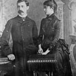 Imaginea 4 Spiru Haret și soția sa, Ana, în anul 1883, Biblioteca Academiei Române, Cabinetul Manuscrise, Arhiva dr. ing. Spiru Haret.