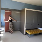 17 Children's bedroom from the big villa by Le Corbusier. During the day the beds fold under the closet.