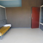 18 Children's bedroom from the big villa by Le Corbusier. During the day the beds fold under the closet.