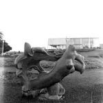 Sculpture at the Museu de Arte da Pampulha gardens, 1960 Marcos Carvalho and Gui Tarcisio Mazonni Courtesy of Laboratório de Fotodocumentação Sylvio Vasconcellos