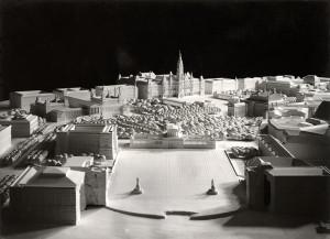 Hanns Dustmann, regândirea Heldenplatzes și a Curții din fața Primăriei, Viena, 1942 © Architekturzentrum Wien, Sammlung;