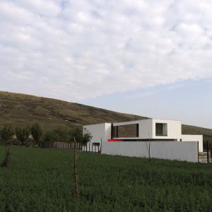 Casa M, proiect 2005-2010, finalizare execuție 2010, arie construită desfășurată 452 mp.