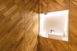 Detaliu instalații sanitare, în cabinete