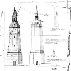 Turnul Ceasornicului, Giurgiu, studiu pentru proiect restaurare, arh. Horia Teodoru, 1934;
