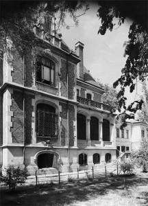 Fațada dinspre sud a reședinței Niculescu-Dorobanțu, 1939 © Colecția Stănescu