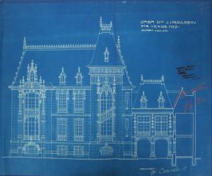 Elevație nord - autorizație de construcție, A.N.R.-D.M.B., fond PMB TEH., dosar 439/1910;