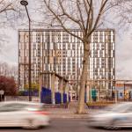 Turnul Palatino, fațada propusă în urma transformării clădirii de birouri în imobil de apartamente, © Thierry Favatier;