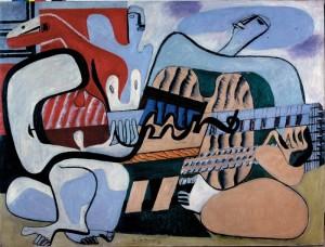 Le Corbusier, Trei muzicieni, ulei pe pânză, 0,97 x 1,30 m © FLC, ADAGP, Paris 2015