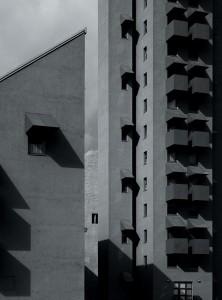 Hélène Binet: John Hejduk, Ansamblu rezidențial, Berlin, 1988;