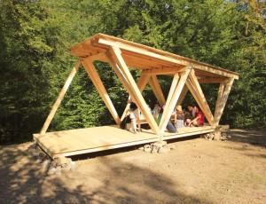 """Pavilionul finalizat, imagine realizată în cadrul Atelierului """"Green reCreation"""" 2012 © Atelier Green reCreation 2012"""