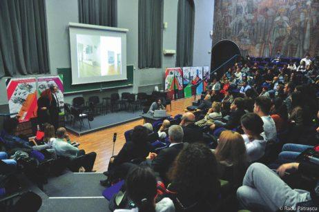 Imagini din timpul evenimentului (absolvenți Roger Pop, Urbanism, promoția 2004; Tamara Roseti, Peisagistică, promoția 2013; Sorin Manea, Urbanism, promoția 2003) © Radu Pătrașcu