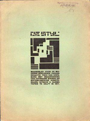 De Stijl, nr. 1 - 1917, coperta 1