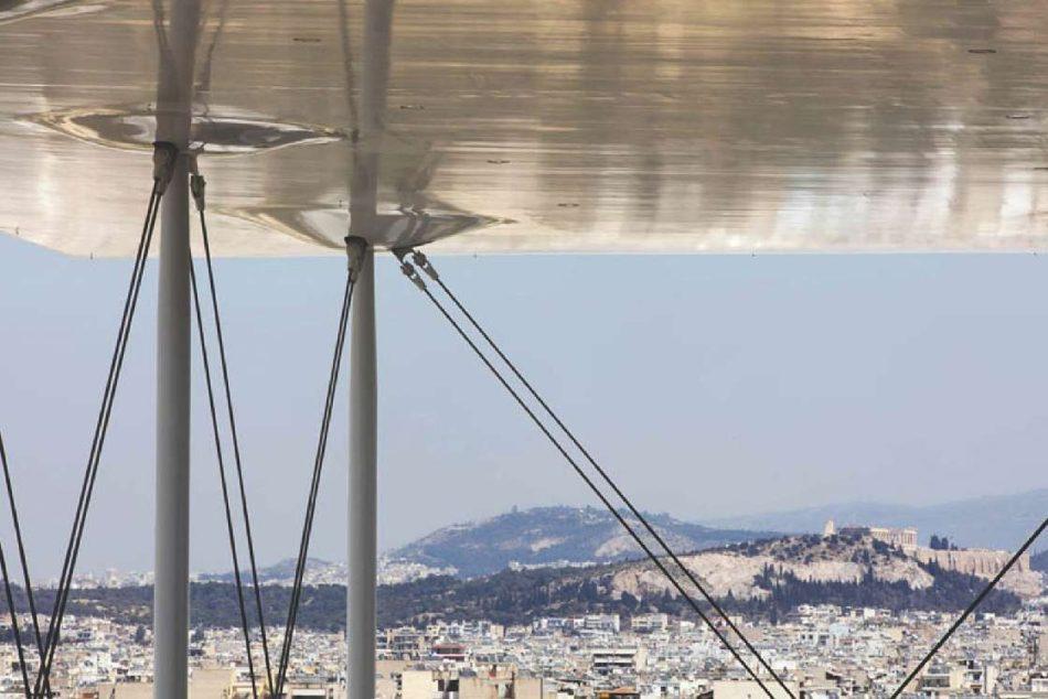 Panorama dinspre Centru spre acropola Atenei