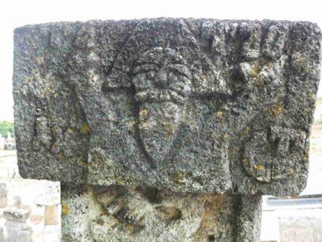Fig. 16 Detaliu: Dumnezeu-Tatăl, cruce tratată în ronde-bosse (vedere faţă, a se vedea Fig. 36), cimitirul parohial Ştefăneşti, Călăraşi;