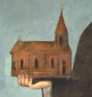 Prima biserică ctitorită (cca. 1740) de logofătul Mihai Băbeanu; biserica de zid ctitorită de Panait Băbeanu în intervalul 1784-1786 (ambele în tabloul votiv); chivotul bisericii (1813); proiectul arhitectului Alexandru Orăscu (1872) - ANR-DMB, Fond PMB Technic, dosar 16/1873