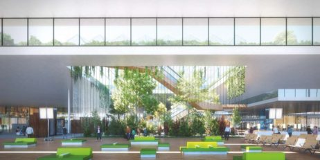 MVRDV, KPF and Meinhardt - The nature square. Schiphol Terminal A. Design for a courtyard _ rooftop