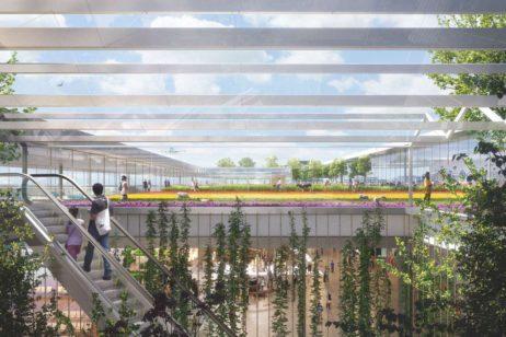 MVRDV, KPF and Meinhardt - The polder roof. Schiphol Terminal A. Design for a courtyard _ rooftop
