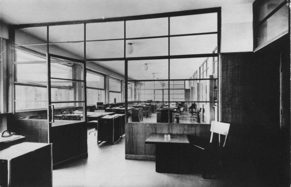 Pavilionul administrativ, interior, 1936