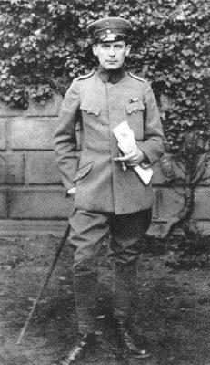 Walter Gropius sergent în Marele Război