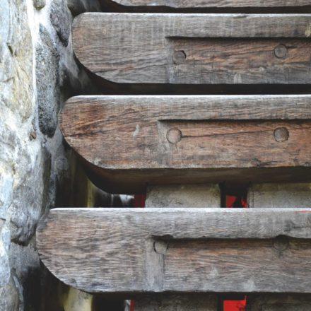 Mănăstirea Sucevița, detaliu trepte