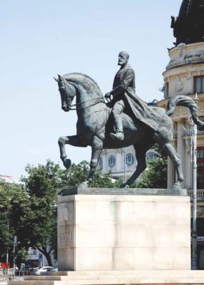 Statue of  King Charles I, remade by sculptor Florin Codre in 2010