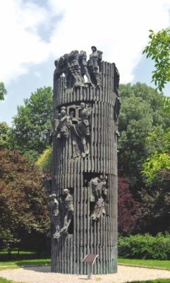 Monument to Infantry, remade in 2000 in a new form by sculptor Ioan Bolborea