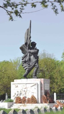 Monument to the Soviet Soldier, moved in the Soviet Soldiers Cemetery on Pipera Road. Photography taken in 2014