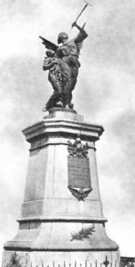 Monument dedicated to the Fallen Firefighters on the Spirii Hill, raised in 1907 and dismantled in 1983. Sculptor: Wladimir Hegel.