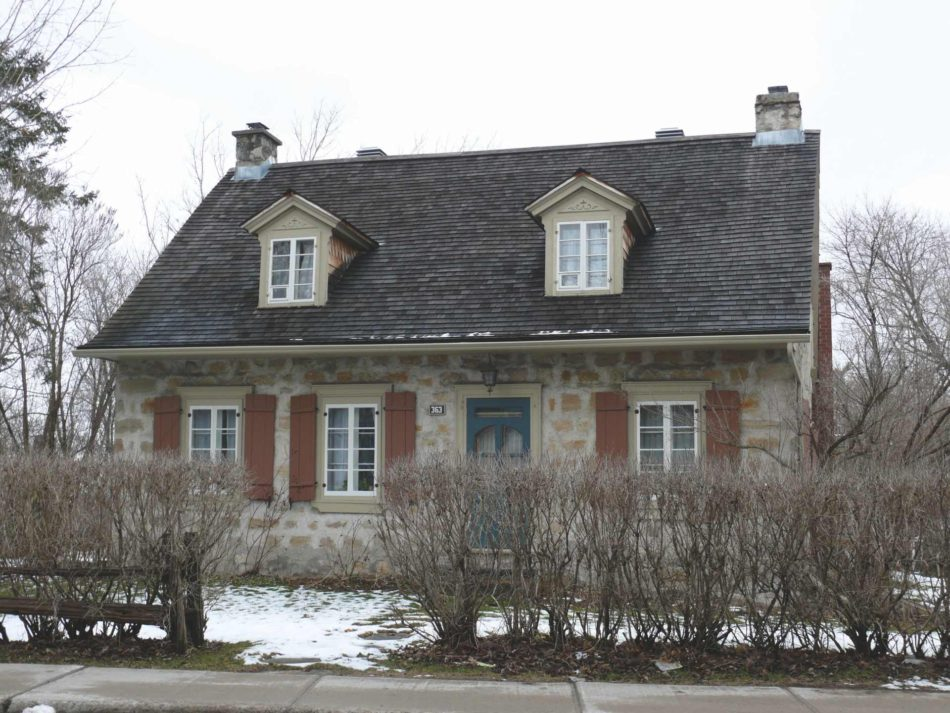 Heritage houses included in the Inventory of architectural heritage of Laval, 2018