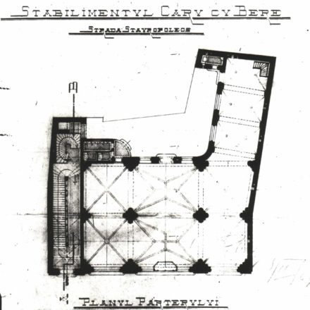 Ground Floor plan, 1898 Source: National Archives of Romania, Bucharest Municipality Department, File no. 629/1898