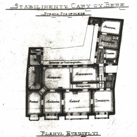 1st floor plan, 1898 Source: National Archives of Romania, Bucharest Municipality Department, File no. 629/1898