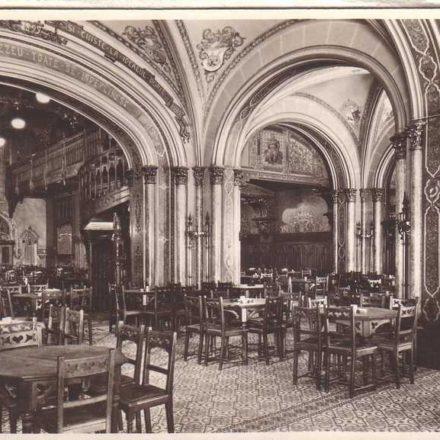 Caru' cu bere, interior, 1924 Picture postcard