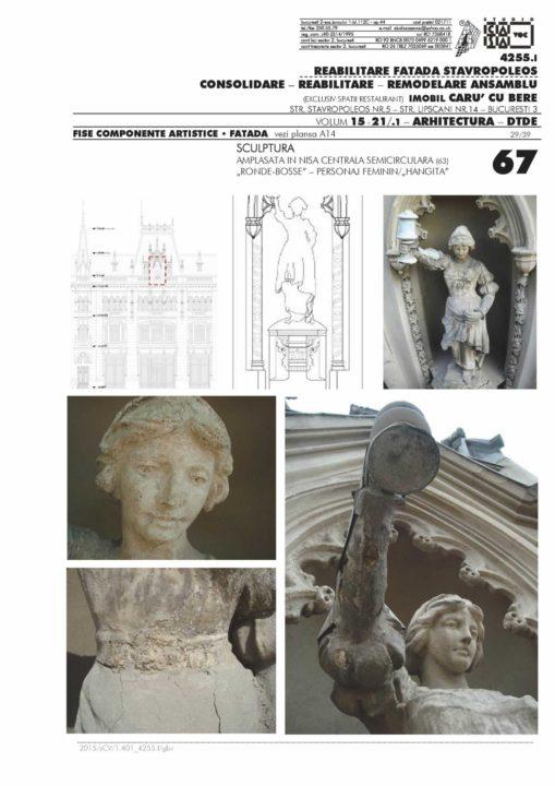 Renovation of the Stavropoleos building façade. Artistic components sheets - Faţadă - Sculpture (DTDE, 2012)