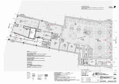 Consolidation, renovation, reshaping of the Caru' cu bere group of buildings. Ground floor plan, reshaping (DTAC, 2014)