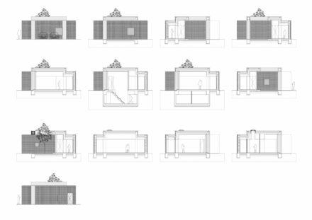 5_Sectiuni si fatade longitudinale_O casă unifamilială cu spațiu de lucru