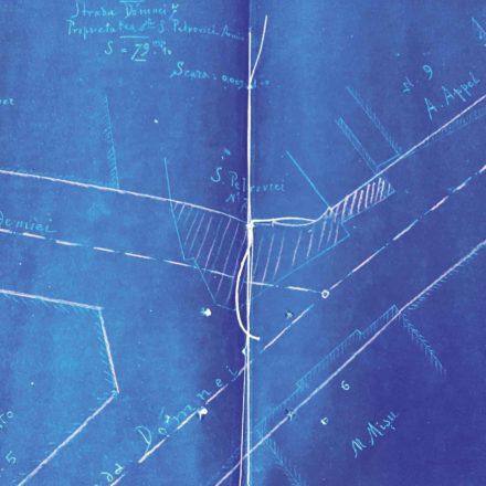 Planul porțiunii expropriate pentru terenul de pe Strada Doamnei, nr. 7  sursa: ARHIVELE NAȚIONALE, PMB TEHNIC, 94/1897