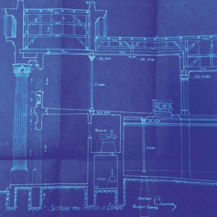Planul cinematografului Apollo, sursa: ARHIVELE NAȚIONALE, PMB TEHNIC 348/1912