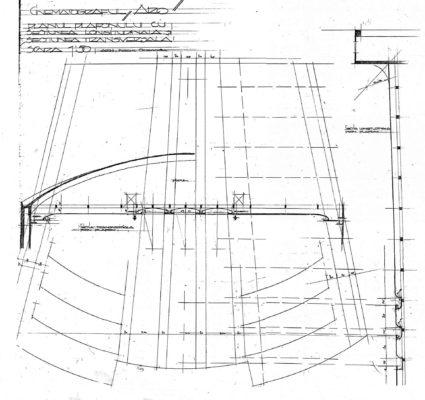 Plan plafon cu secțiuni