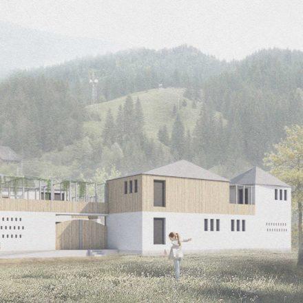 Centru comunitar Vâlcea, 2018 Studio: Arhipera, Archos2002, Colectiv: Lorin Niculae, Irina Scobiola, Delia Stamatin și George Lăcătîș.