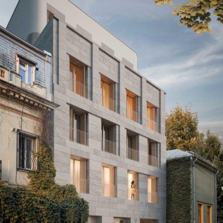 Imobil de apartamente pe str. Jean-Louis Calderon, București, în construcție, 2016-2019