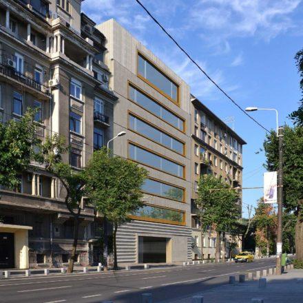 Imobil de birouri pe Bd. Kogalniceanu, BucureȘti, în construcție, 2016-2019