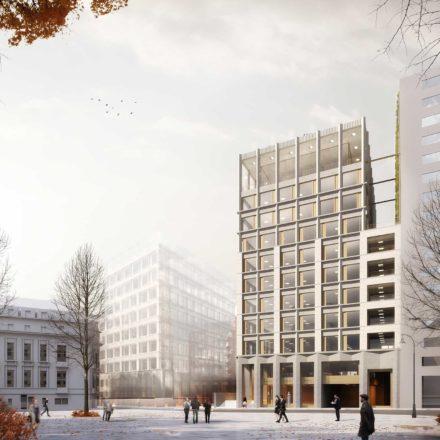 Imobil de birouri, cu spații de retail la parter, pe strada Matei Millo, București, în construcție, 2018-2020