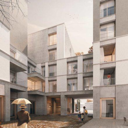 Imobil de apartamente pe str. Sfinții Voievozi, București, în construcție, 2016-2020