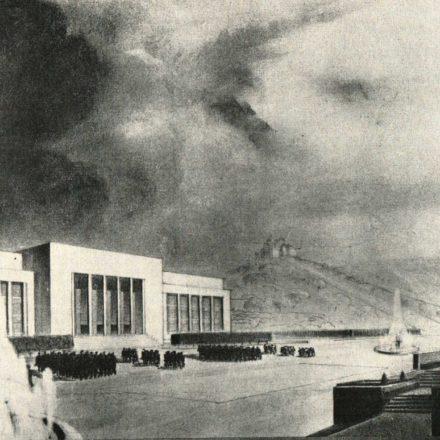 "Al. Zamphiropol, Al. Hempel: proiect nr. 8 - perspectivă  Sursa: ""Arhitectura"", nr. 7, 1936"
