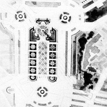 Autor necunoscut - Proiecte de concurs Sursa: A. Pănoiu, Evoluţia oraşului Bucureşti, Ed. Fundaţiei Arhitext Design, 2011, p. 218-219